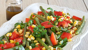 Low FODMAP Succotash Salad